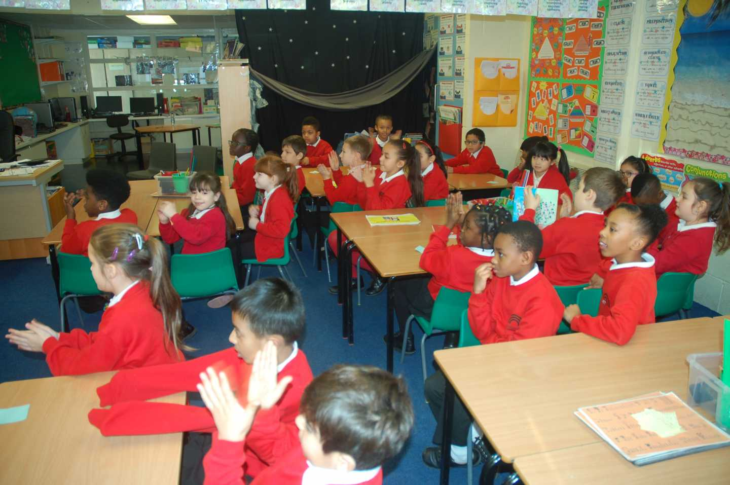 Welbourne Primary School | Nile class receives a Skype call